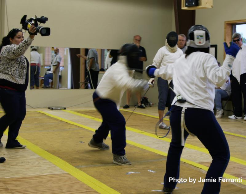Low/No Vision Fencers at Oklahoma Sport Fencing, Touche Directed by George Adams